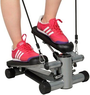Exercise Step Machine Aerobic Fitness Stepper Ropes Workout W/ Cord Arms Leg