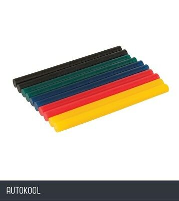Silverline Coloured Mini Glue Sticks 10pk 7.2 x 100mm