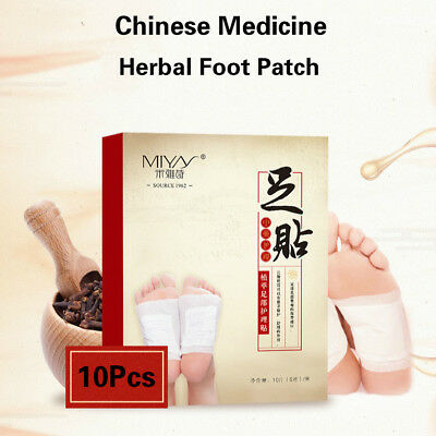 10Pcs Chinese Medicine Foot Patch Herbal Detox Weight Lose Health Care Patches