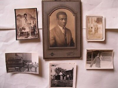 VINTAGE LOT of 6 AFRICAN AMERICAN BLACK & WHITE PHOTOGRAPHS