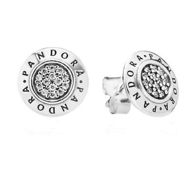 Authentic PANDORA   Signature Stud Earrings - 290559CZ