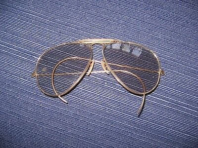 Vintage Ray Ban Sunglasses Gold & Grey Changeables B&L USA Shooter 58mm Cables
