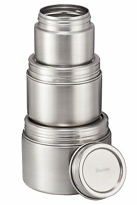 Stainless Steel Food Storage Containers - Set of 3 (8, 16, 24 oz) - Airtight
