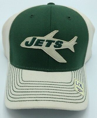 8dc8c29ee36 NFL New York Jets Reebok Adult Retro Structured Stretch Flex Fit Cap Hat NEW !