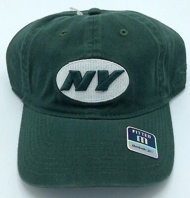 45126b92a0c NFL New York Jets Reebok Adult Slouch Flex Fit Curved Brim Cap Hat Beanie  NEW!