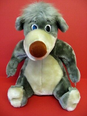 """Baloo Bear The Jungle Book Soft Toy Vintage Euro Disney 11"""" Cuddly Toy Mint Con"""