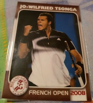Jo-Wilfried TSONGA 2008 Tennis French Open Edition Collectionneur card #12/25