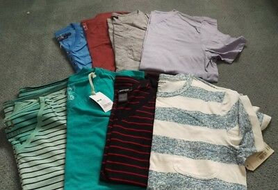 Mens Tee Shirts small/med lot of 8 some new! Mossimo,,A Brand,Decree,