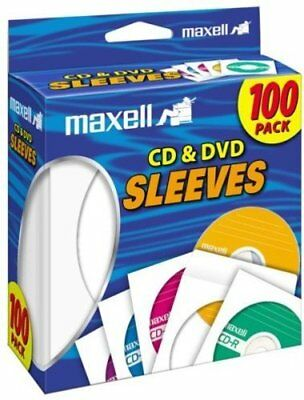 Dvds Sleeves, 100 Pack White Paper Dvd Cd-r Storage Empty Blank Cd Sleeves