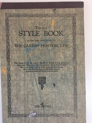 Vintage Printers Type Style Book Fonts Designs Typographer Lay Out Man