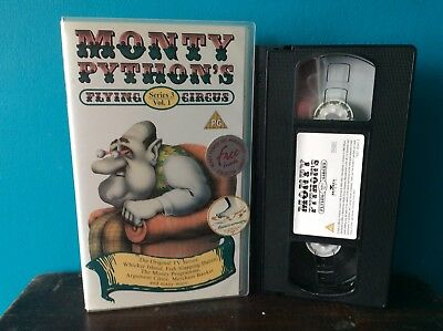 Rare Monty Pythons Flying Circus Vhs Tape Pre Cert Small Box Ex Rental Cult