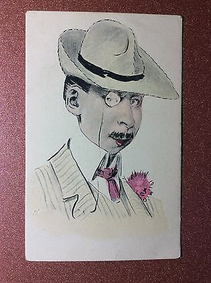 Original! Antique postcard early 1900s President Theodore Roosevelt Gentleman
