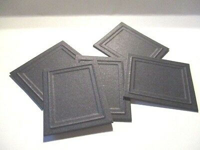 5 DOLLS HOUSE Miniature Picture Frames Black - £0.99 | PicClick UK
