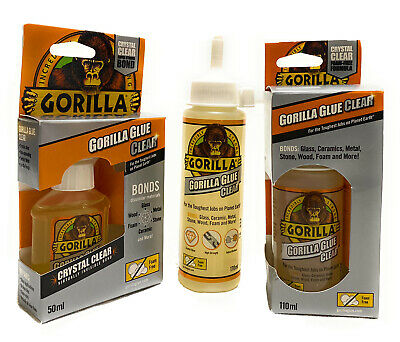 Gorilla Glue Clear Adhesive Super Strong Glue Waterproof Adhesive Epoxy Syringe