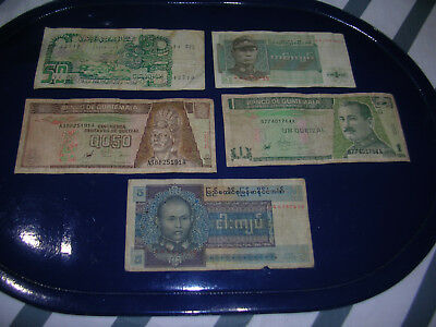 world bank notes x 5 used