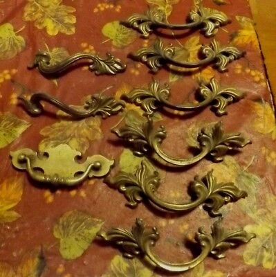 9 piece lot - Vintage Chic French Provincial Drawer Pulls  Hardware 6 3/4  wide