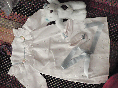 Magic Attic Club outfit  white nightgown slippers ribbon and bear