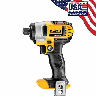 "New Dewalt 20 Volt Max Lithium Ion 1/4"" Impact Driver Model (Bare Tool) # DCF885"