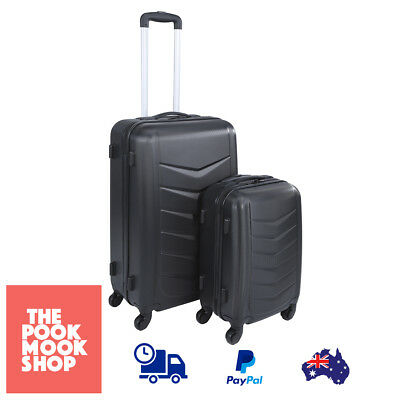2-Piece Hard Case Luggage Set Suitcases 4 Wheeled Travel Suitcase Small & Large