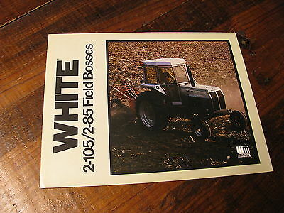 NOS Oliver White Tractor 2-85 2-105 Field Boss Tractor Dealer's Brochure