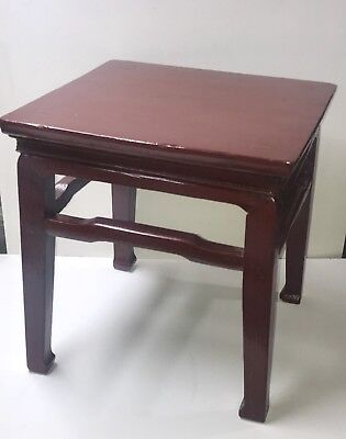 Chinese Red-Lacquer Wooden Table or Large Stand