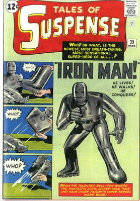 Tales Of Suspense 39 Iron Man Custom Made Cover w/ 1964 REPRINT 1st Iron Man