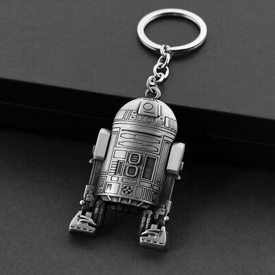 Star Wars keychain Top Quality The Force Awakens Keyring Alloy R2 D 2 Robot
