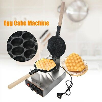Commercial Electric Egg Cake Oven Non Stick Waffle Bread Baker Maker Machine