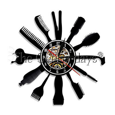 Barber Shop Wall Clock Haircut Salon Vinyl Record Wall Clock Hairdresser Gift