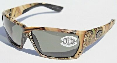 24eeefda1ba COSTA DEL MAR Tuna Alley POLARIZED Sunglasses Mossy Oak Camo Gray 580G NEW