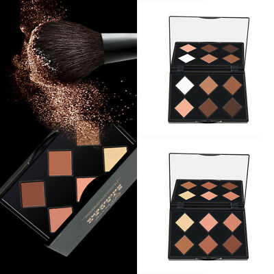 6 Color Makeup Powder Glow Contour Kit Bronzer Highlighter Palette Beauty