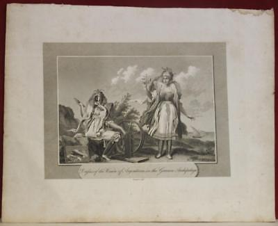 Kimolos Women Greece 1808 Cavendish Pelham Antique Steel Engraved Fashion Plate