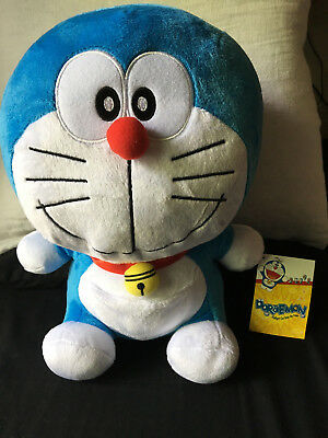 Doraemon Plush Stuffed Gadget Cat From Future Anime Fujiko-Pro Smile Face 15""