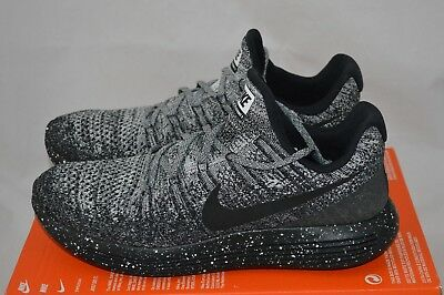 ee346d31131e5e Nike Lunarepic Low Flyknit 2 Mens Running Shoes  Size 11  Black white 863779