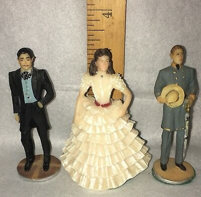 Gone With The Wind 1967 Miniature Figurines Dave Grossman Creations Lot of 3.