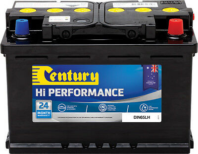 Century Din65Lh High Performance Battery 24 Mths National Warr Australia Wide