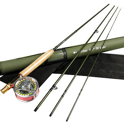 Fly Fishing Outfit 3/4/5/8WT Traveller Fly Rod,Fly Reel Large Arbor Super Strong