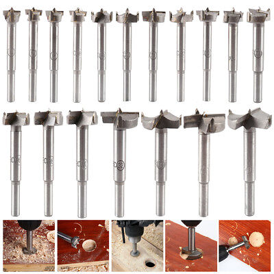 18x Forstner Woodworking Hole Drill Bits Set Hinge Hole Cutter 15-40mm