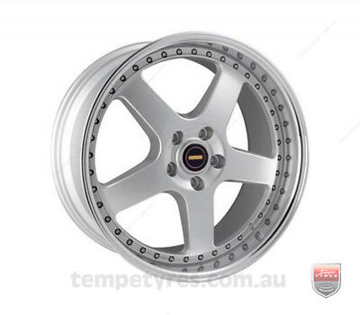 JEEP COMPASS WHEELS PACKAGE: 20x8.5 20x9.5 Simmons FR-1 Silver and Goodyear Tyre