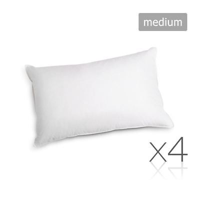 Giselle Bedding Family Hotel 4 Pack Bed Pillows Medium Cotton 48X73CM