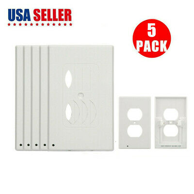 5-Pack Night Angel Wall Outlet Cover with Sensor wall plate W/ 2 led night light