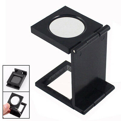 NEW Hands Free 10X 27mm Fold Magnifier with Scale Magnifying Glass Jewelry Loupe