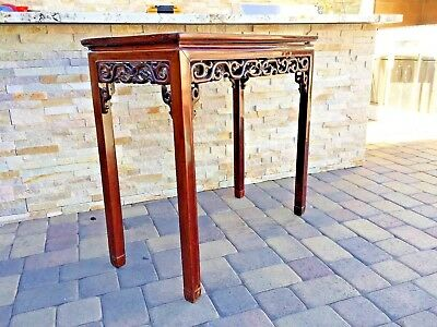 VERY RARE ANTIQUE 18th C CHINESE HUANGHUALI WOOD TABLE
