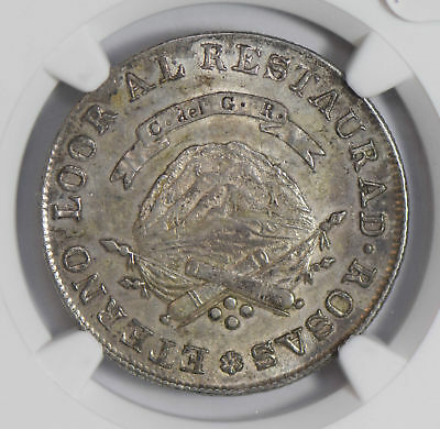 Argentina 1846 4 Reales silver NGC MS61 La Rioja second finest known, only 1 in