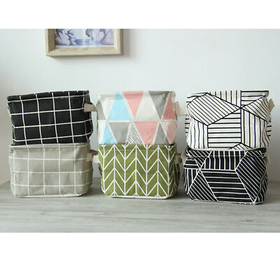 Home Storage Box Household Organizer Fabric Cube Bin Basket Container 7 Styles