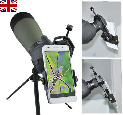 UK Universal Spotting Scope Telescope Mount Digital Camera Mobile Phone Adapter