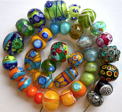 Lotto misto perle fatte a mano - Murano glass - Orphan  lampwork beads, handmade