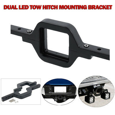 Dual LED Work Light Bar Reverse Tow Hitch Mounting Bracket For Vehicles SUV Car