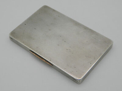 Solid Silver 213.1g Engine Turned Cigarette Case 1935 London