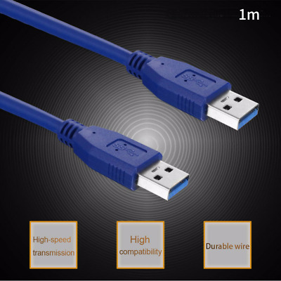 USB 3.0 Cable (USB to USB Cable Male to Male) in Blue 1m